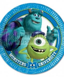 Monsters University party plates, pack of 10