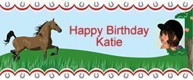 Horse Personalised Banner - 2 foot long