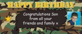 Army Camo Personalised Banner - 2 foot long