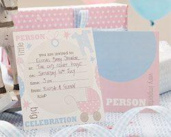 Tiny Feet Baby Shower Party Invites - pk 10