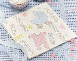 Tiny Feet Baby Shower Party Napkins pk 20