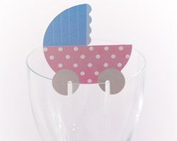 Tiny Feet Baby Shower Glass Decorations, pk 10