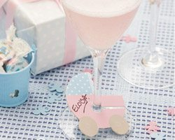 Tiny Feet Baby Shower Glass Markers, pk 10