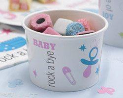 Tiny Feet Baby Shower Icecream Treat tubs - pk 8