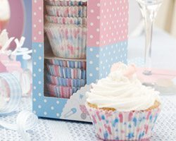 Tiny Feet Baby Shower Cupcake Cases - pk 100