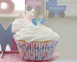 Tiny Feet Baby Shower Cupcake Picks pk 20