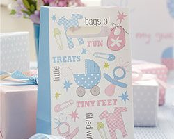 Tiny Feet Baby Shower Gift Bags pk 5