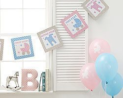 Tiny Feet Baby Shower Bunting 3.5metres long