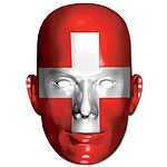 Swiss Flag Mask - each