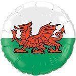 Welsh Flag Foil Balloon - each