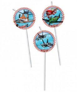Disney Planes Party Straws pk 6