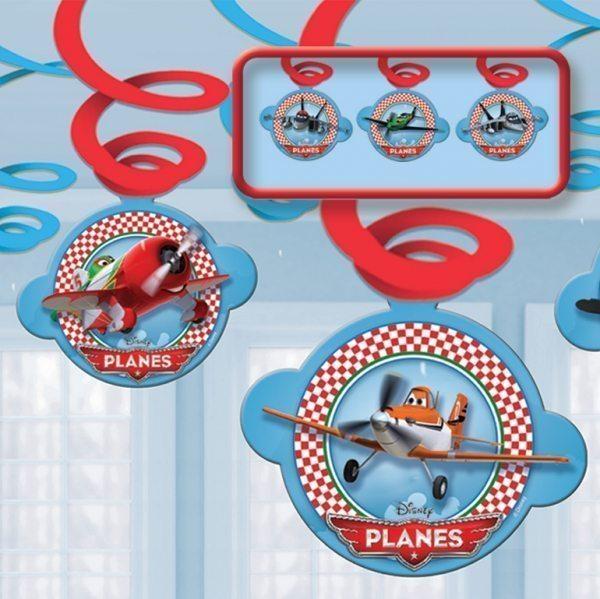Disney Planes Party Swirl Decorations pk 3
