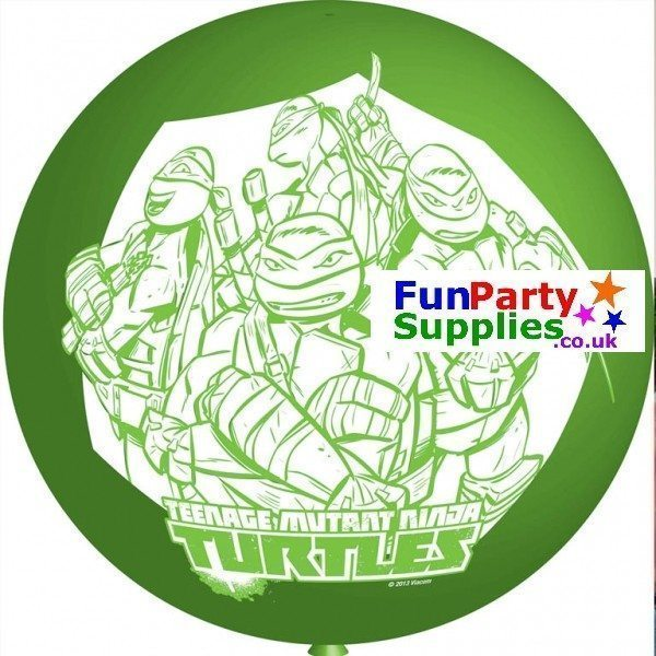 Ninja Turtle Party Punch Balloons Pk 4