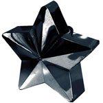 Black Star Shaped Balloon Weight