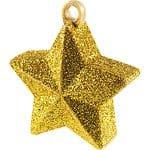 Glitter Gold Star Shaped Balloon Weight