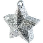 Glitter Silver Star Shaped Balloon Weight