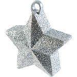 Glitter Silver Star Shaped Balloon Weight