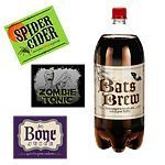 Halloween 2 Litre Bottle Labels - pk 4