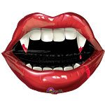 Halloween Fangtastic Vampire 27'' Vampire Teeth Foil Balloon