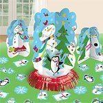 Christmas Joyful Snowman Party Table Decoration Kit
