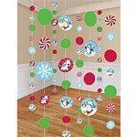 Christmas Joyful Snowman Party String Decorations - 1.8m pk 8