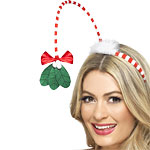 Christmas Mistletoe Kisses Headband