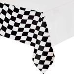Grand Prix Black and White Printed Paper Tablecover