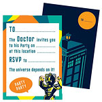 Doctor Who Party Invitation Cards pk 6