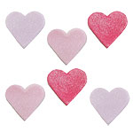 Shimmer Hearts Sugar Toppers pk 6