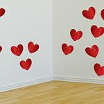 Valentines Glitter Heart Card Cutouts - 29cm pk 20