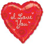 """Valentines 32"""" Heart Jumbo Foil Balloon - each"""