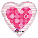 "Valentines 18"" Love Messages Balloon - each"