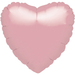 18'' Pastel Pink Heart Foil Balloon - each