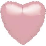 18'' Pastel Pink Heart Foil Balloon - each
