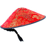 Chinese New Year Chinese Red Fabric Coolie Hat
