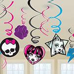 Monster High Party Hanging Swirls - 55cm pk 12