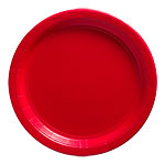 Apple Red Party Paper Plates 22.8cm pk 50