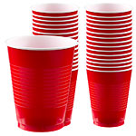 Apple Red Party Plastic Cups 473ml pk 50