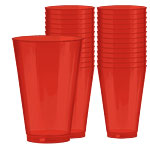 Apple Red Party Plastic Tumblers 414ml pk 36