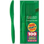 Festive Green Party Plastic Knives pk 100