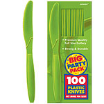 Kiwi Lime Green Party Plastic Knives pk 100