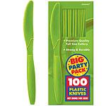 Kiwi Lime Green Party Plastic Knives pk 100