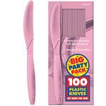 Powder Pale Pink Party Plastic Knives pk 100