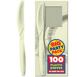 Vanilla Cream Party Plastic Knives pk 100