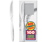 White Party Plastic Knives pk 100