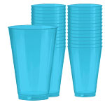 Caribbean Turquoise Blue Party Tumblers 414ml pk 36