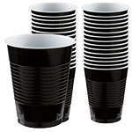 Jet Black Party Plastic Cups 473ml pk 50