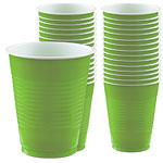 Kiwi Lime Green Party Plastic Cups 473ml pk 50