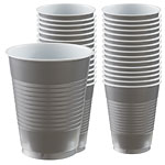 Silver Party Plastic Cups 473ml pk 50