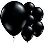 Black Onyx Latex Balloons pk 25